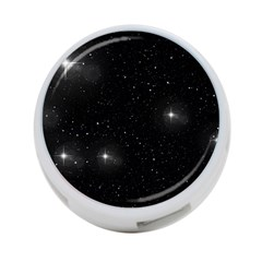 Starry Galaxy Night Black And White Stars 4 Port Usb Hub (two Sides)  by yoursparklingshop