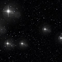Starry Galaxy Night Black And White Stars Magic Photo Cubes by yoursparklingshop