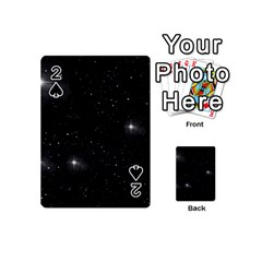 Starry Galaxy Night Black And White Stars Playing Cards 54 (mini)  by yoursparklingshop