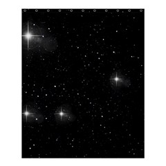 Starry Galaxy Night Black And White Stars Shower Curtain 60  X 72  (medium)  by yoursparklingshop