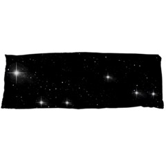 Starry Galaxy Night Black And White Stars Body Pillow Case (dakimakura) by yoursparklingshop