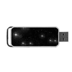 Starry Galaxy Night Black And White Stars Portable Usb Flash (two Sides) by yoursparklingshop
