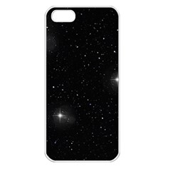 Starry Galaxy Night Black And White Stars Apple Iphone 5 Seamless Case (white) by yoursparklingshop