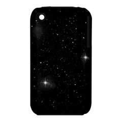 Starry Galaxy Night Black And White Stars Iphone 3s/3gs by yoursparklingshop