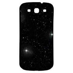 Starry Galaxy Night Black And White Stars Samsung Galaxy S3 S Iii Classic Hardshell Back Case by yoursparklingshop