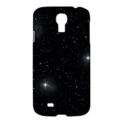 Starry Galaxy Night Black And White Stars Samsung Galaxy S4 I9500/i9505 Hardshell Case by yoursparklingshop