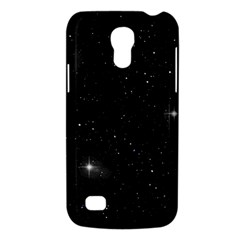 Starry Galaxy Night Black And White Stars Galaxy S4 Mini by yoursparklingshop