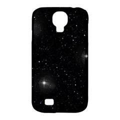 Starry Galaxy Night Black And White Stars Samsung Galaxy S4 Classic Hardshell Case (pc+silicone) by yoursparklingshop