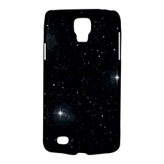 Starry Galaxy Night Black And White Stars Galaxy S4 Active by yoursparklingshop
