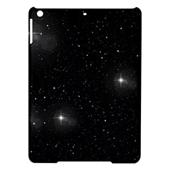 Starry Galaxy Night Black And White Stars Ipad Air Hardshell Cases by yoursparklingshop
