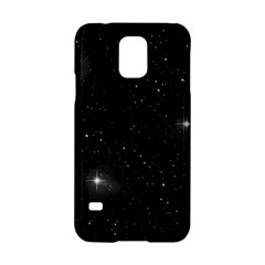 Starry Galaxy Night Black And White Stars Samsung Galaxy S5 Hardshell Case  by yoursparklingshop