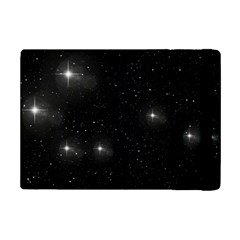 Starry Galaxy Night Black And White Stars Ipad Mini 2 Flip Cases by yoursparklingshop