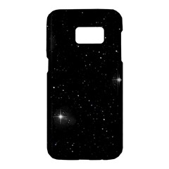 Starry Galaxy Night Black And White Stars Samsung Galaxy S7 Hardshell Case  by yoursparklingshop