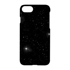 Starry Galaxy Night Black And White Stars Apple Iphone 7 Hardshell Case by yoursparklingshop