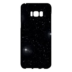 Starry Galaxy Night Black And White Stars Samsung Galaxy S8 Plus Hardshell Case  by yoursparklingshop