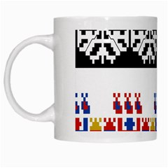 Bulgarian Folk Art Folk Art White Mugs by Celenk