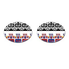 Bulgarian Folk Art Folk Art Cufflinks (oval) by Celenk