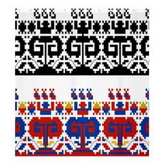 Bulgarian Folk Art Folk Art Shower Curtain 66  X 72  (large)  by Celenk