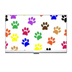 Pawprints Paw Prints Paw Animal Business Card Holders by Celenk