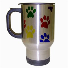 Pawprints Paw Prints Paw Animal Travel Mug (silver Gray) by Celenk