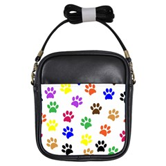 Pawprints Paw Prints Paw Animal Girls Sling Bags by Celenk