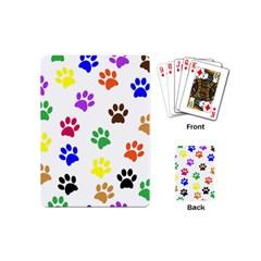 Pawprints Paw Prints Paw Animal Playing Cards (mini)  by Celenk