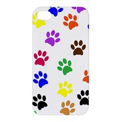 Pawprints Paw Prints Paw Animal Apple Iphone 4/4s Premium Hardshell Case by Celenk