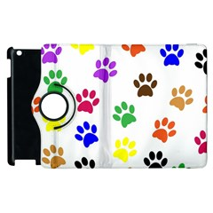 Pawprints Paw Prints Paw Animal Apple Ipad 2 Flip 360 Case by Celenk
