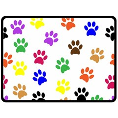 Pawprints Paw Prints Paw Animal Double Sided Fleece Blanket (large)  by Celenk