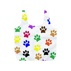 Pawprints Paw Prints Paw Animal Full Print Recycle Bags (s)  by Celenk