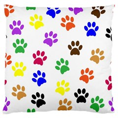 Pawprints Paw Prints Paw Animal Large Flano Cushion Case (two Sides) by Celenk
