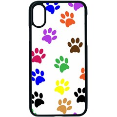 Pawprints Paw Prints Paw Animal Apple Iphone X Seamless Case (black) by Celenk