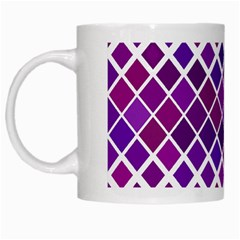 Pattern Square Purple Horizontal White Mugs by Celenk