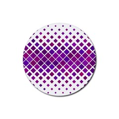 Pattern Square Purple Horizontal Rubber Coaster (round)  by Celenk