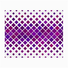 Pattern Square Purple Horizontal Small Glasses Cloth (2 Side) by Celenk
