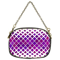 Pattern Square Purple Horizontal Chain Purses (one Side)  by Celenk
