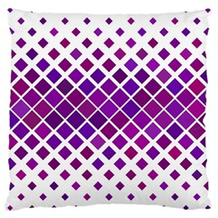 Pattern Square Purple Horizontal Large Cushion Case (two Sides) by Celenk