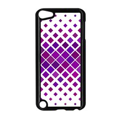Pattern Square Purple Horizontal Apple Ipod Touch 5 Case (black) by Celenk
