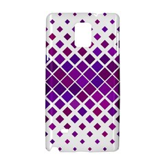 Pattern Square Purple Horizontal Samsung Galaxy Note 4 Hardshell Case by Celenk