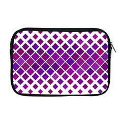Pattern Square Purple Horizontal Apple Macbook Pro 17  Zipper Case by Celenk