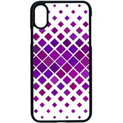 Pattern Square Purple Horizontal Apple Iphone X Seamless Case (black) by Celenk