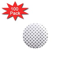 Star Pattern Decoration Geometric 1  Mini Magnets (100 Pack)  by Celenk