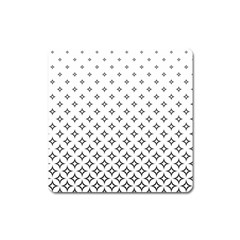 Star Pattern Decoration Geometric Square Magnet by Celenk