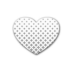 Star Pattern Decoration Geometric Rubber Coaster (heart)  by Celenk