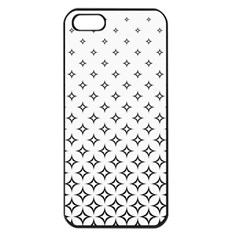 Star Pattern Decoration Geometric Apple Iphone 5 Seamless Case (black) by Celenk