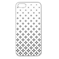 Star Pattern Decoration Geometric Apple Seamless Iphone 5 Case (clear) by Celenk
