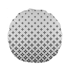 Star Pattern Decoration Geometric Standard 15  Premium Round Cushions by Celenk