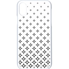 Star Pattern Decoration Geometric Apple Iphone X Seamless Case (white) by Celenk