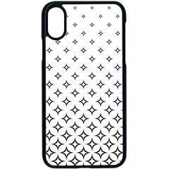 Star Pattern Decoration Geometric Apple Iphone X Seamless Case (black) by Celenk