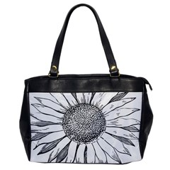 Sunflower Flower Line Art Summer Office Handbags by Celenk